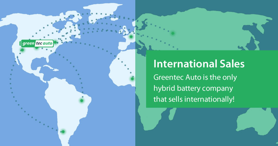 International Sales of Hybrid Batteries