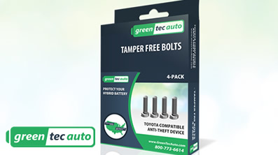 Tamper Free Bolts for Toyota Hybrid Battery